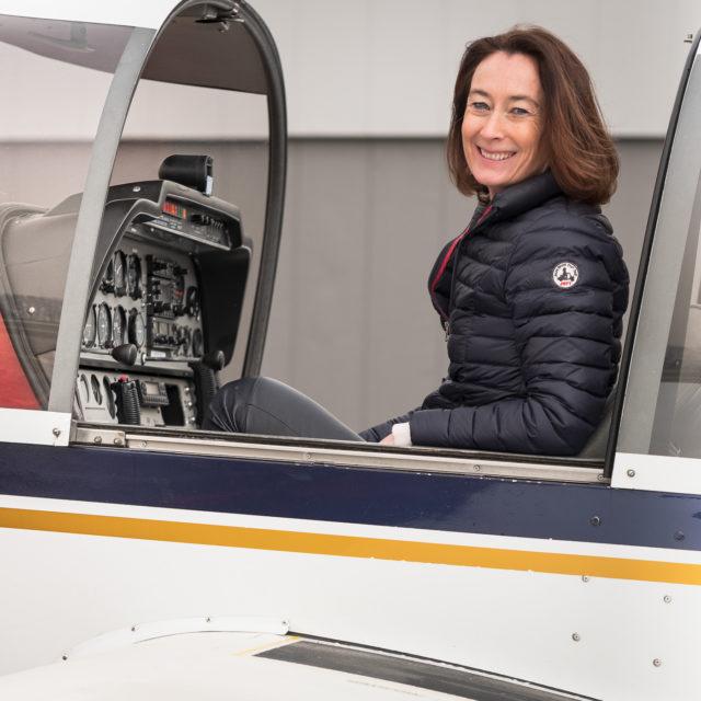 Valérie, pilote formée à Lausanne Aéroclub